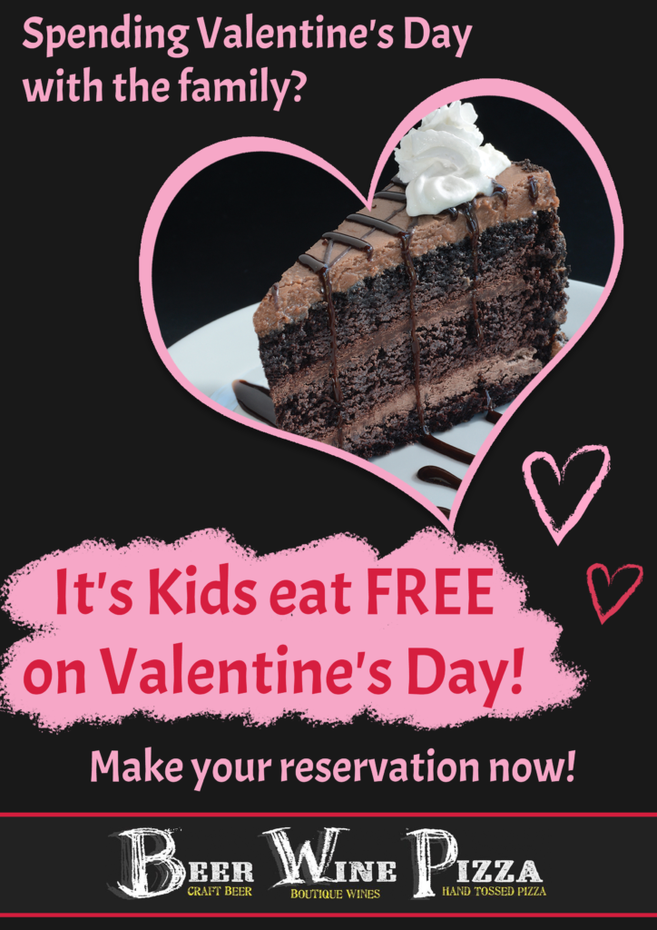 kids eat free on valentines day